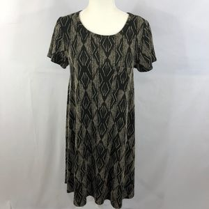 LuLaRoe Jacquard Tribal Carly Dress Size S